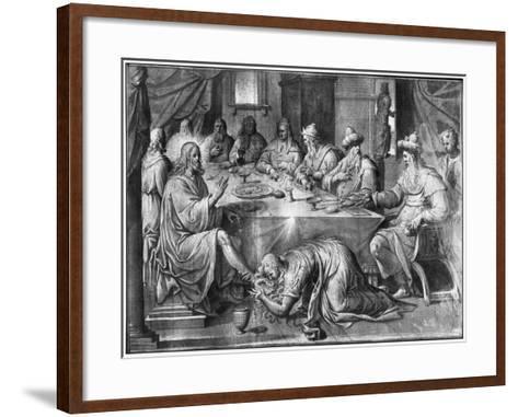 Life of Christ, the Meal at the House of Simon the Pharisee-Henri Lerambert-Framed Art Print