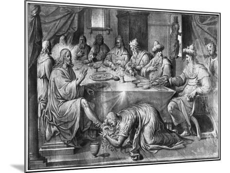 Life of Christ, the Meal at the House of Simon the Pharisee-Henri Lerambert-Mounted Giclee Print