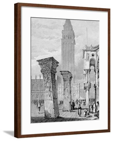 St. Mark's Square, Venice, Engraved by Edward John Roberts (Engraving)-Samuel Prout-Framed Art Print