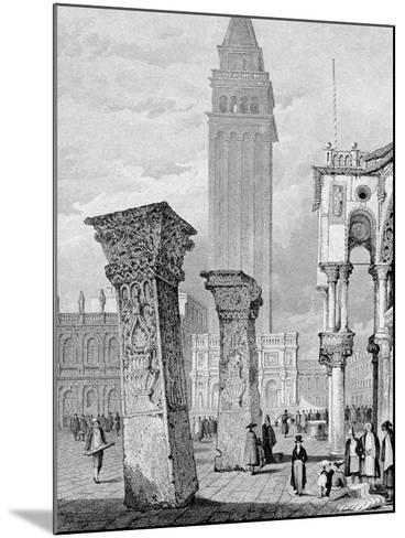 St. Mark's Square, Venice, Engraved by Edward John Roberts (Engraving)-Samuel Prout-Mounted Giclee Print