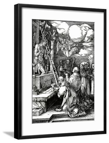 The Mass of St. Gregory, 1511 (Woodcut)-Albrecht D?rer-Framed Art Print
