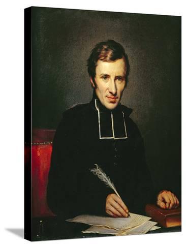 Portrait of the Abbot of Lamennais, 1827-Paulin Jean Baptiste Guerin-Stretched Canvas Print