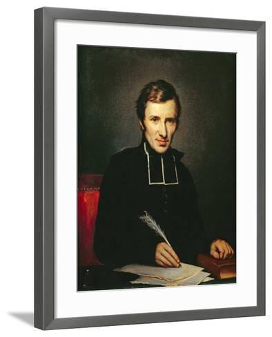 Portrait of the Abbot of Lamennais, 1827-Paulin Jean Baptiste Guerin-Framed Art Print
