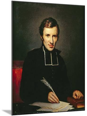 Portrait of the Abbot of Lamennais, 1827-Paulin Jean Baptiste Guerin-Mounted Giclee Print