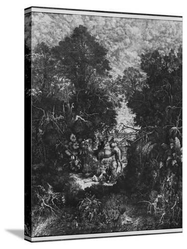 The Good Samaritan, 1861 (Litho)-Rodolphe Bresdin-Stretched Canvas Print