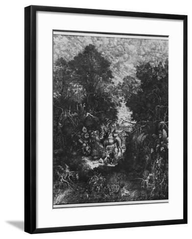 The Good Samaritan, 1861 (Litho)-Rodolphe Bresdin-Framed Art Print