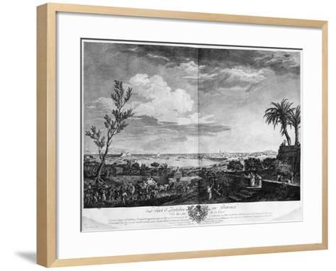 Port of Antibes in Provence, Series of 'Les Ports De France'-Claude Joseph Vernet-Framed Art Print