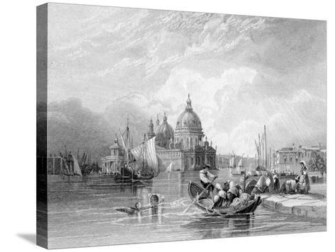 The Grand Canal, Venice, Engraved by J. Thomas, C.1829 (Engraving)-Charles Bentley-Stretched Canvas Print