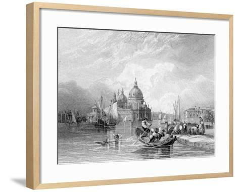 The Grand Canal, Venice, Engraved by J. Thomas, C.1829 (Engraving)-Charles Bentley-Framed Art Print