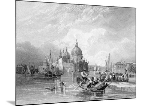 The Grand Canal, Venice, Engraved by J. Thomas, C.1829 (Engraving)-Charles Bentley-Mounted Giclee Print