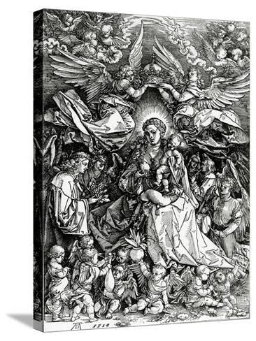 The Coronation of the Virgin and Child, 1518 (Woodcut)-Albrecht D?rer-Stretched Canvas Print