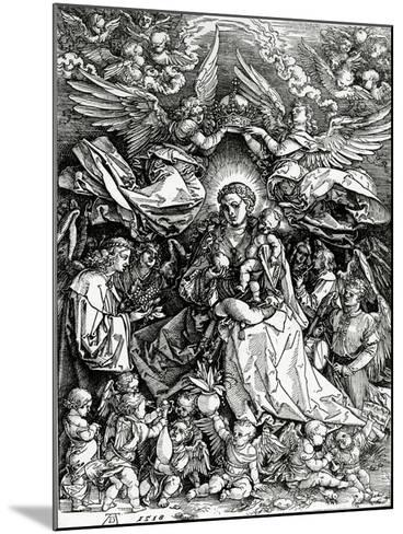 The Coronation of the Virgin and Child, 1518 (Woodcut)-Albrecht D?rer-Mounted Giclee Print