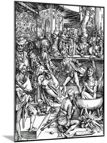 St. John the Evangelist Being Tortured in a Vat of Boiling Oil, from the 'Apocalypse' Series, 1498-Albrecht D?rer-Mounted Giclee Print