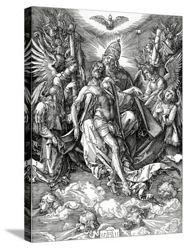 The Holy Trinity, 1511 (Woodcut)-Albrecht D?rer-Stretched Canvas Print