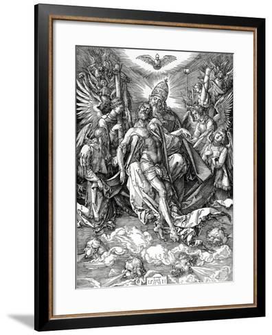 The Holy Trinity, 1511 (Woodcut)-Albrecht D?rer-Framed Art Print