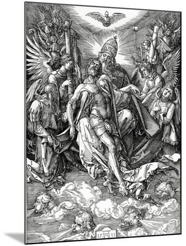 The Holy Trinity, 1511 (Woodcut)-Albrecht D?rer-Mounted Giclee Print