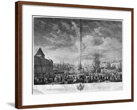Inner Port of Marseille, Seen from the Pavilion of the Horloge Du Parc-Claude Joseph Vernet-Framed Art Print