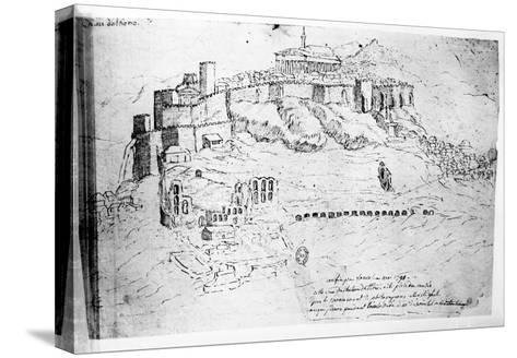 Athens, 1791 (Pen and Ink Drawing)-French-Stretched Canvas Print