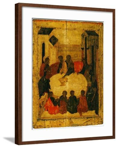 The Last Supper (Tempera and Gold Leaf on Panel)-Russian-Framed Art Print