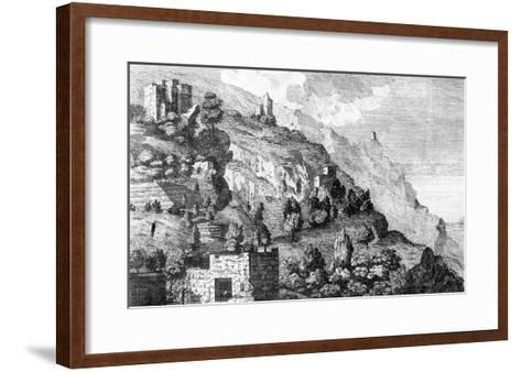 Prospect Amoung the Coffee Mountains of Yemen, from 'Travels Through Arabia' by Carsten Niebuhr-Daniel Lizars-Framed Art Print
