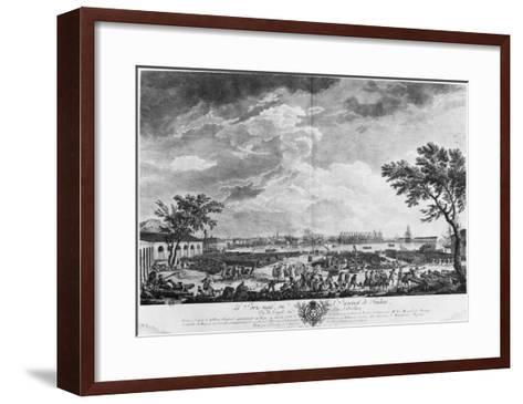 New Port and Arsenal of Toulon, Seen from the Artillery Depot, Series of 'Les Ports De France'-Claude Joseph Vernet-Framed Art Print
