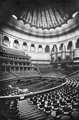 The Royal Albert Hall, London, C.1880's (B/W Photo)-English Photographer-Stretched Canvas Print
