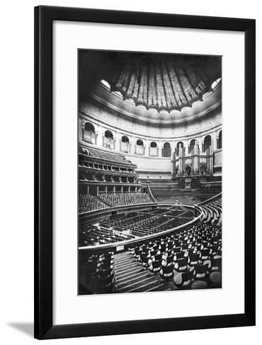 The Royal Albert Hall, London, C.1880's (B/W Photo)-English Photographer-Framed Art Print