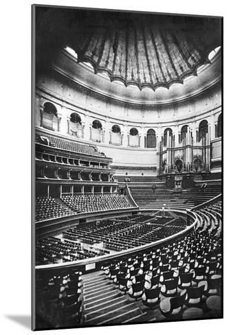 The Royal Albert Hall, London, C.1880's (B/W Photo)-English Photographer-Mounted Giclee Print