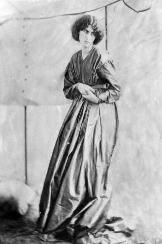 Jane Morris, Posed by Dante Gabriel Rossetti, 1865 (Albumen Print)-John R. Parsons-Stretched Canvas Print