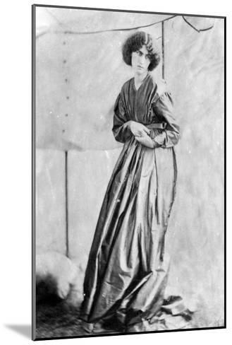Jane Morris, Posed by Dante Gabriel Rossetti, 1865 (Albumen Print)-John R. Parsons-Mounted Giclee Print