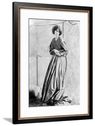 Jane Morris, Posed by Dante Gabriel Rossetti, 1865 (Albumen Print)-John R. Parsons-Framed Art Print