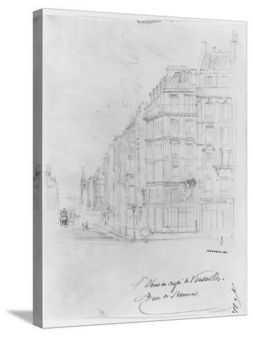 Album of the Siege of Paris, Shell of Cafe De Versailles, Rue De Rennes-Gustave Dor?-Stretched Canvas Print