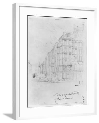 Album of the Siege of Paris, Shell of Cafe De Versailles, Rue De Rennes-Gustave Dor?-Framed Art Print