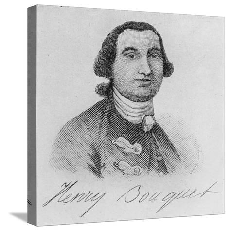 Colonel Henry Bouquet (Engraving)-John Wollaston-Stretched Canvas Print