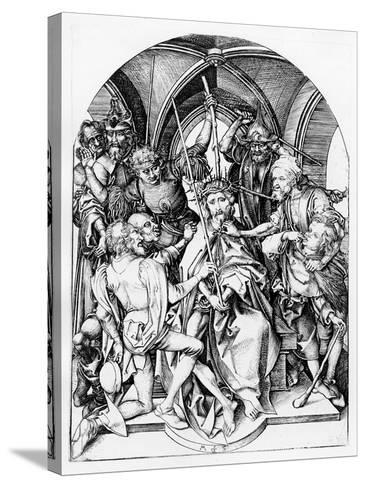 Christ Crowned by Thorns (Engraving)-Martin Schongauer-Stretched Canvas Print