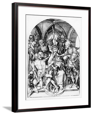 Christ Crowned by Thorns (Engraving)-Martin Schongauer-Framed Art Print