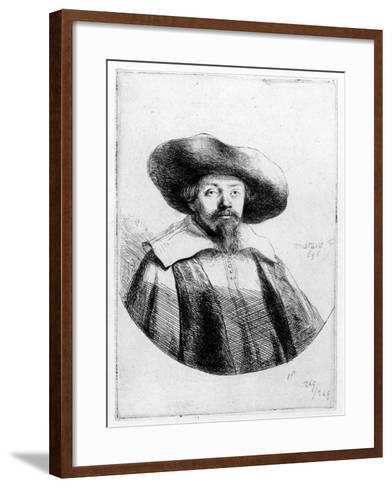 Samuel Manasseh Ben Israel, 1636 (Etching)-Rembrandt van Rijn-Framed Art Print