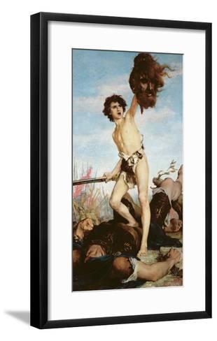 David Victorious over Goliath, 1876-Gabriel-Joseph-Marie-Augustin Ferrier-Framed Art Print