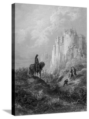 Camelot, Illustration from 'Idylls of the King' by Alfred Tennyson (Litho)-Gustave Dor?-Stretched Canvas Print