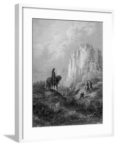 Camelot, Illustration from 'Idylls of the King' by Alfred Tennyson (Litho)-Gustave Dor?-Framed Art Print