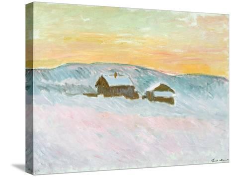 Norwegian Landscape, Blue Houses, 1895-Claude Monet-Stretched Canvas Print