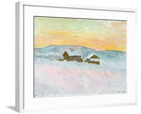 Norwegian Landscape, Blue Houses, 1895-Claude Monet-Framed Art Print