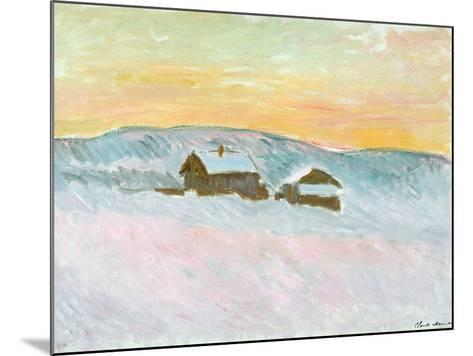 Norwegian Landscape, Blue Houses, 1895-Claude Monet-Mounted Giclee Print