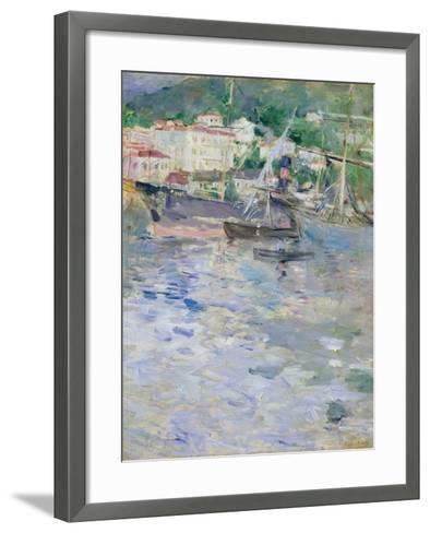 The Port, Nice, 1882-Berthe Morisot-Framed Art Print