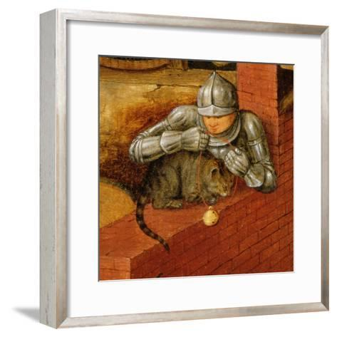 Knight Putting a Bell on a Cat, Detail from 'The Flemish Proverbs'-Pieter Brueghel the Younger-Framed Art Print