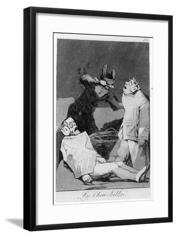 The Chinchillas, Plate 50 of 'Los Caprichos', 1799 (Etching and Aquatint)-Francisco de Goya-Framed Art Print