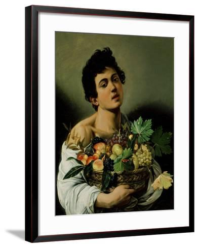 Youth with a Basket of Fruit, 1594 (Detail)-Caravaggio-Framed Art Print