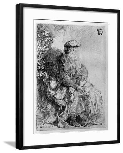Abraham Holding Young Isaac, C.1637 (Etching)-Rembrandt van Rijn-Framed Art Print