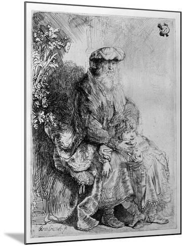 Abraham Holding Young Isaac, C.1637 (Etching)-Rembrandt van Rijn-Mounted Giclee Print
