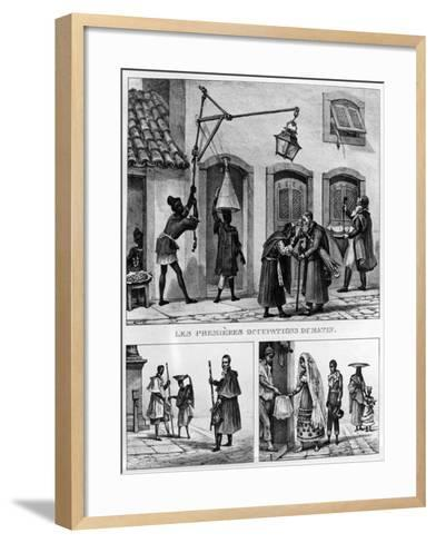 Daily Life in Brazil, from 'Travels in Brazil', Lithographed by Thierry Freres, 1839 (Litho)-Jean Baptiste Debret-Framed Art Print